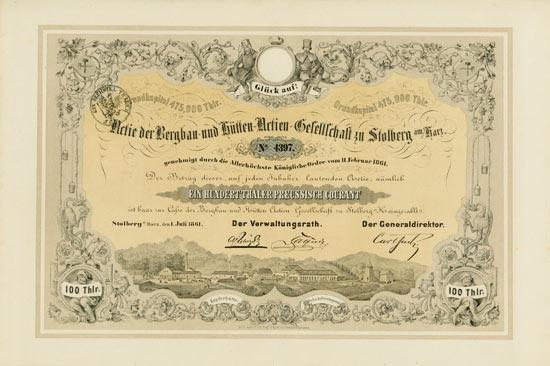 Bergbau- und Hütten-Actien-Gesellschaft zu Stolberg am Harz