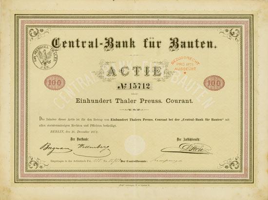 Central-Bank für Bauten