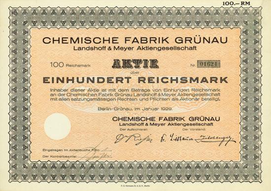 Chemische Fabrik Grünau Landshoff & Meyer AG