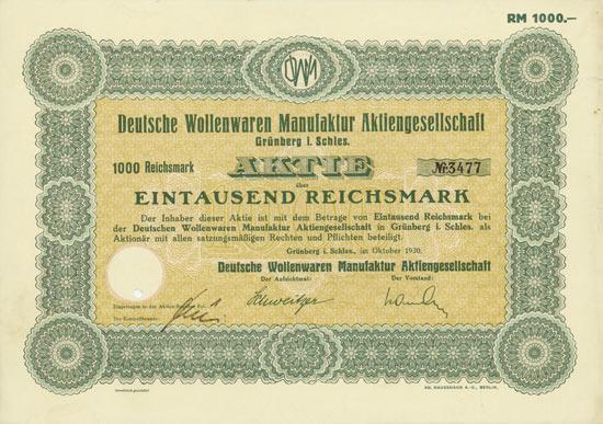 Deutsche Wollenwaren Manufaktur AG