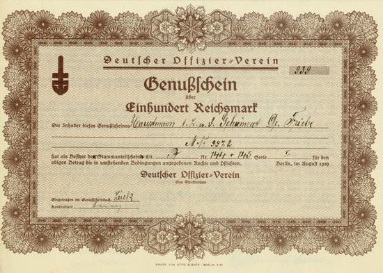 Deutscher Offizier-Verein [Multiauktion 5]