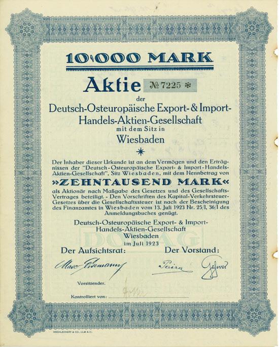 Deutsch-Osteuropäische Export- & Import-Handels- AG