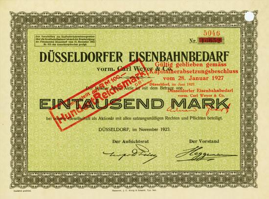 Düsseldorfer Eisenbahnbedarf vorm. Carl Weyer & Co.