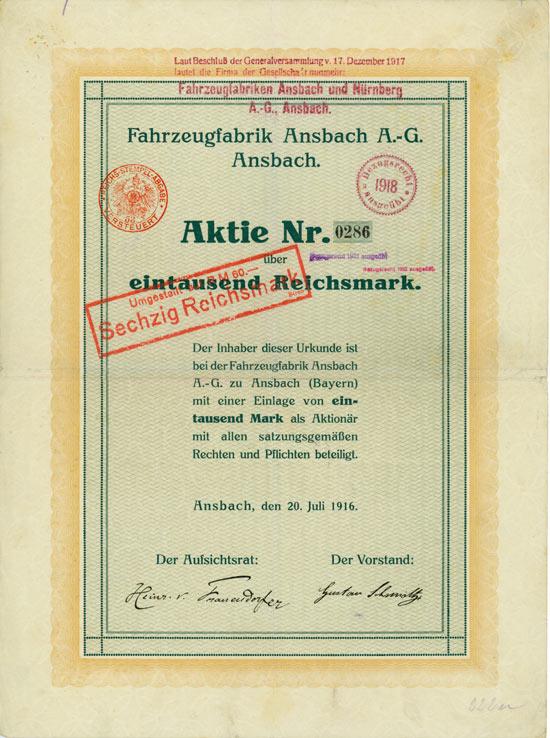 Fahrzeugfabrik Ansbach AG