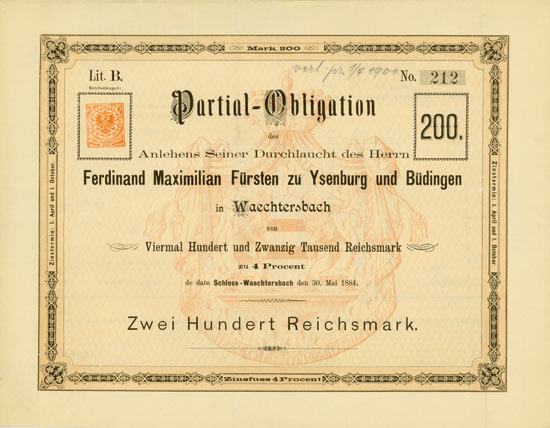 Ferdinand Maximilian Fürst zu Ysenburg und Büdingen
