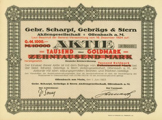 Gebr. Scharpf, Gebrägs & Stern AG