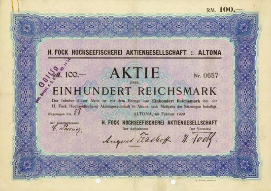 H. Fock Hochseefischerei AG [Multiauktion 2]