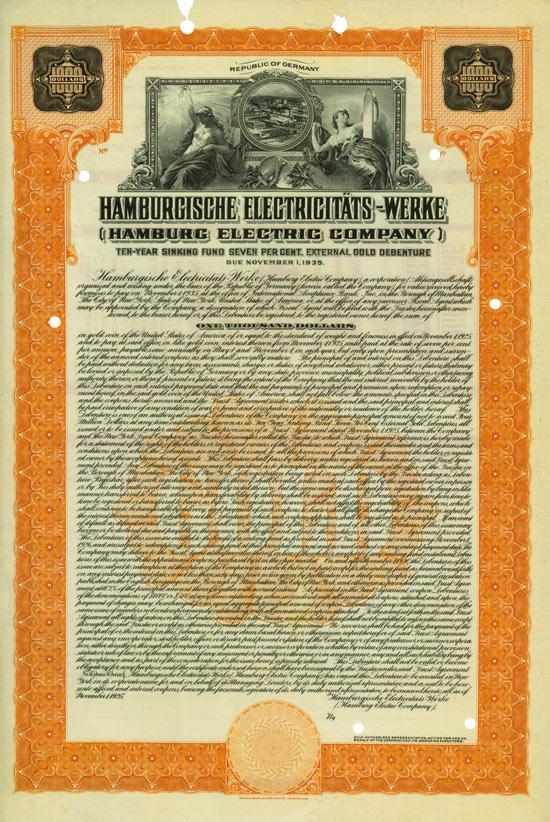 Hamburgische Electricitäts-Werke AG (Hamburg Electric Company)