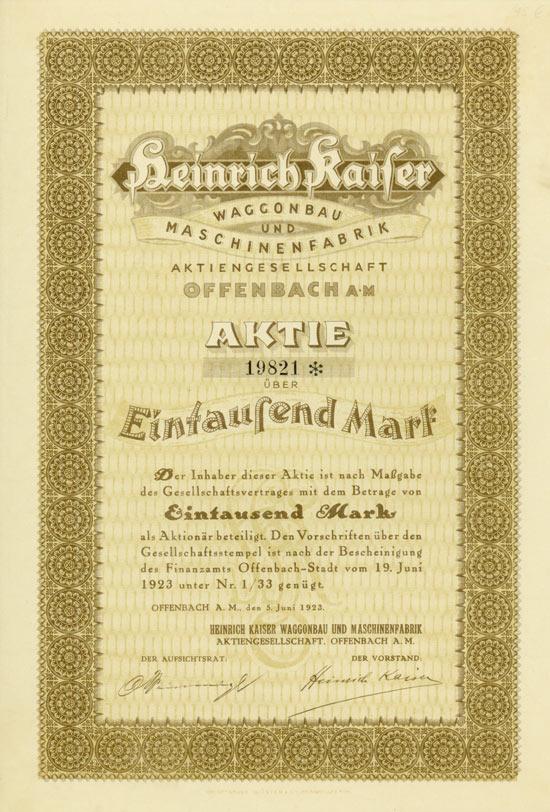 Heinrich Kaiser Waggonbau und Maschinenfabrik AG