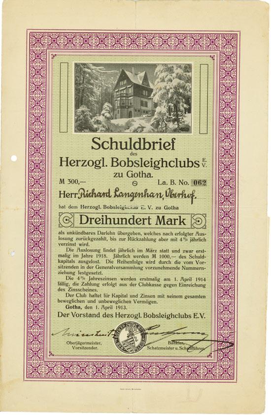Herzogl. Bobsleighclub e. V. zu Gotha