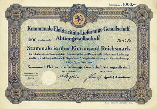Kommunale Elektricitäts-Lieferungs-Gesellschaft AG