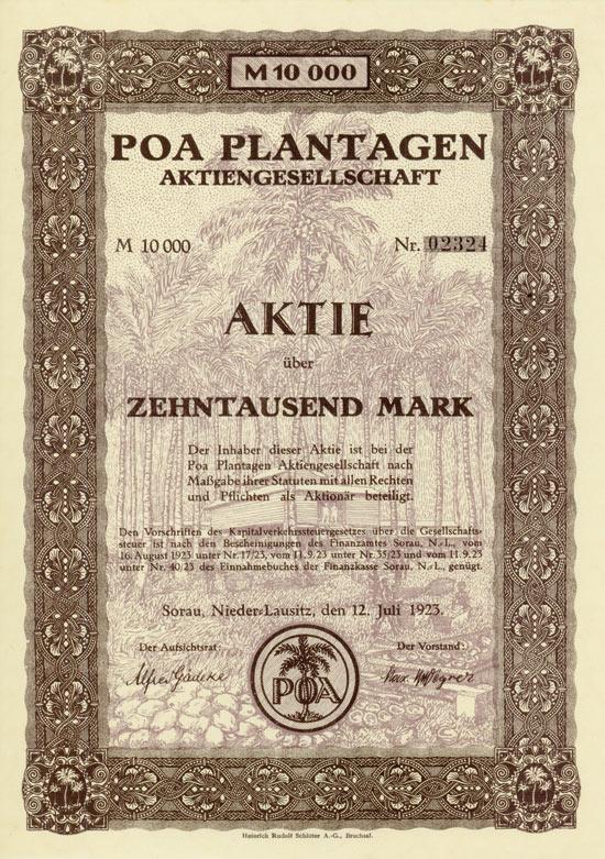 POA Plantagen AG [Multiauktion 3]