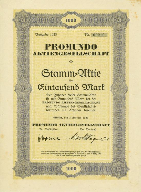 Promundo AG [Multiauktion 3]