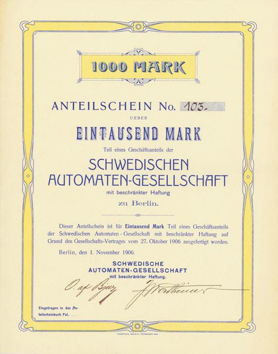 Schwedische Automaten-Gesellschaft mbH