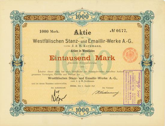 Westfälische Stanz- und Emaillir-Werke AG vorm. J. & H. Kerkmann