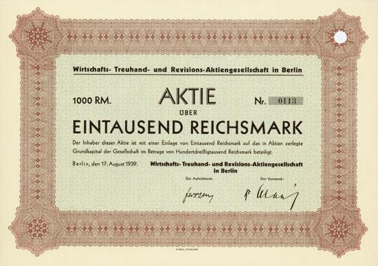 Wirtschafts- Treuhand- und Revisions-Aktiengesellschaft in Berlin