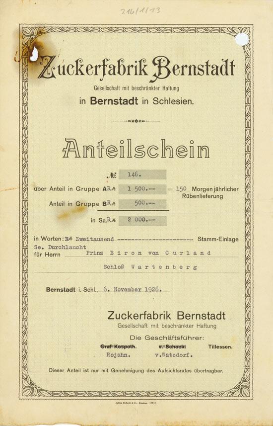 Zuckerfabrik Bernstadt GmbH