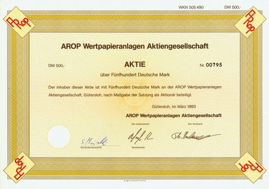 AROP Wertpapieranlagen AG