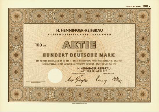 H. Henninger-Reifbräu AG