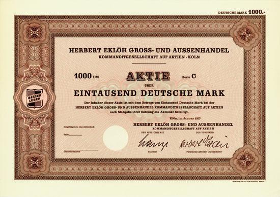 Herbert Eklöh Gross- und Aussenhandel KGaA