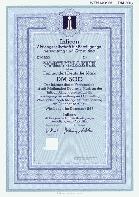 Inficon Aktiengesellschaft für Beteiligungsverwaltung und Consulting