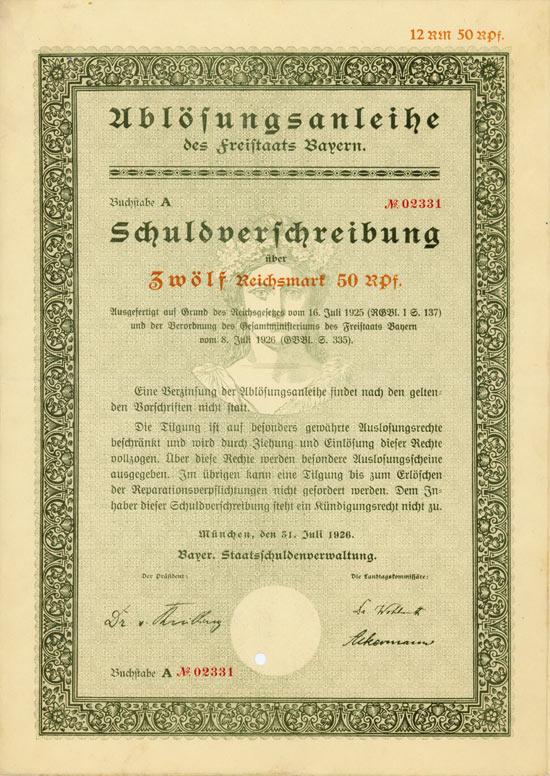 Freistaat Bayern [6 Stück]