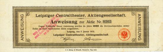 Leipziger Centraltheater AG [3 Stück]