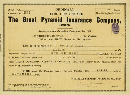 Great Pyramid Insurance Company, Limited
