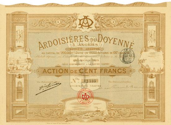 Ardoisières du Doyenné á Angers Société Anonyme