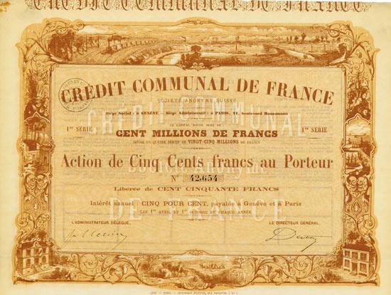 Credit Communal de France Société Anonyme Suisse