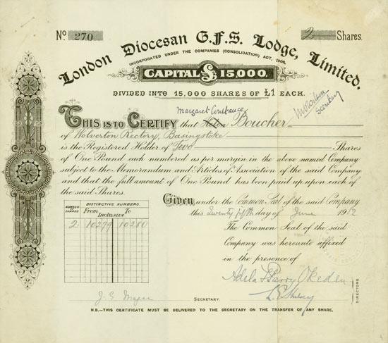London Diocesan G.F.S. Lodge, Ltd.