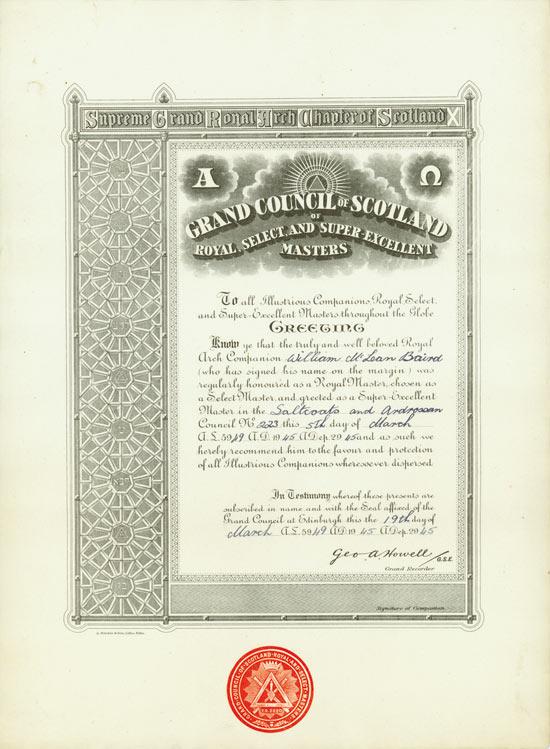 Saltcoats and Ardrossan Royal Ark Mariner Lodge No. 223
