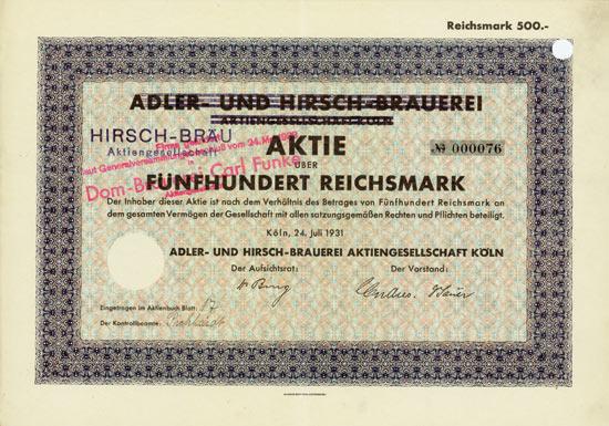 Adler- und Hirsch-Brauerei AG