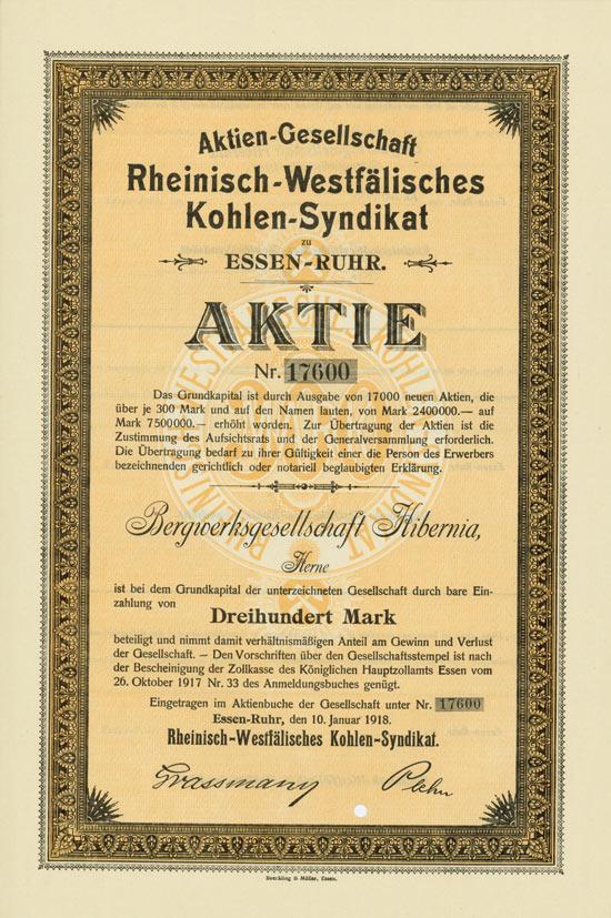 Aktien-Gesellschaft Rheinisch-Westfälisches Kohlen-Syndikat