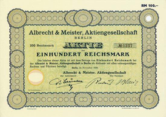 Albrecht & Meister AG