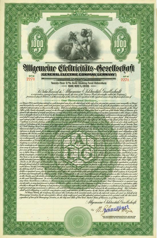 Allgemeine Elektricitäts-Gesellschaft (General Electric Company, Germany)