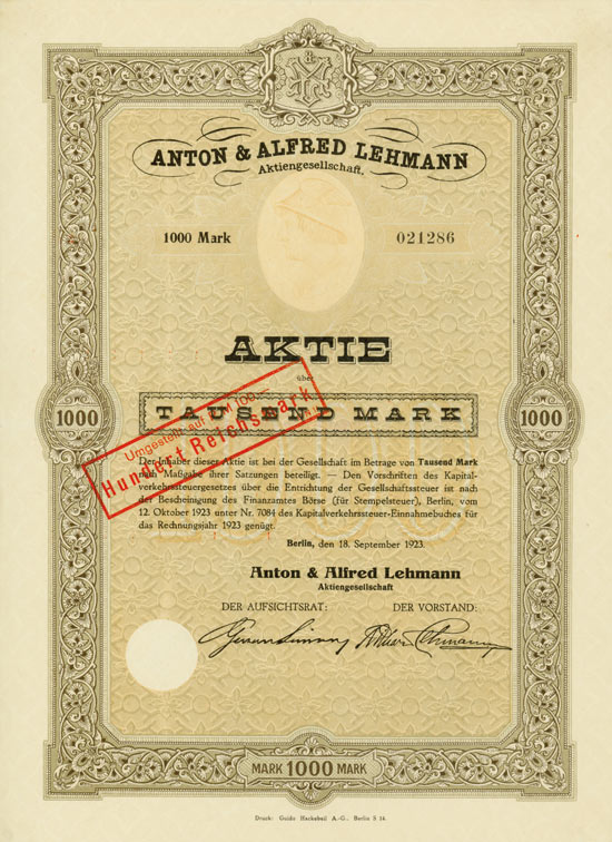Anton & Alfred Lehmann AG