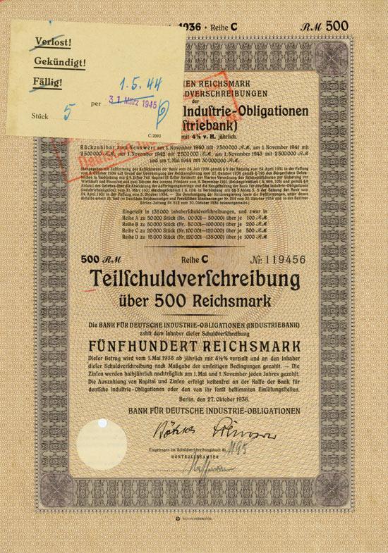 Bank für deutsche Industrie-Obligationen (Industriebank)
