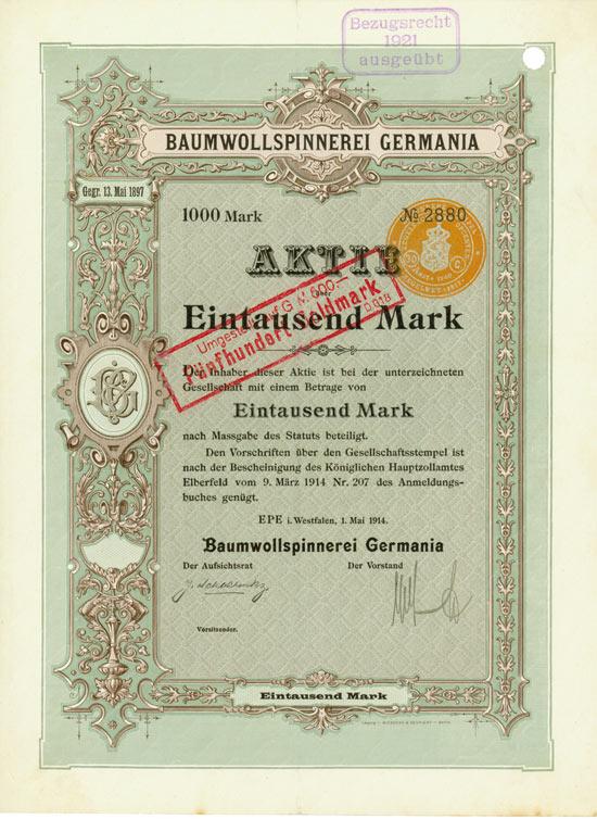 Baumwollspinnerei Germania