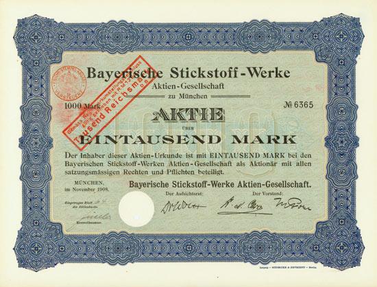 Bayerische Stickstoff-Werke AG