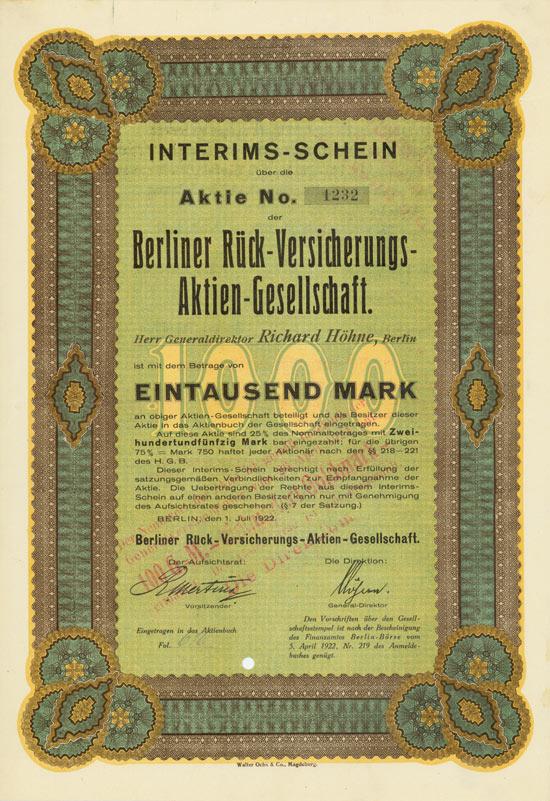 Berliner Rück-Versicherungs-AG