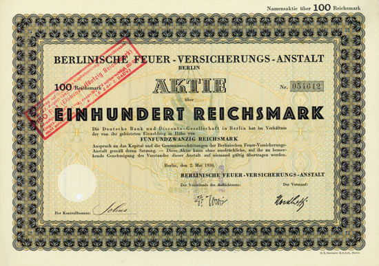 Berlinische Feuer-Versicherungs-Anstalt