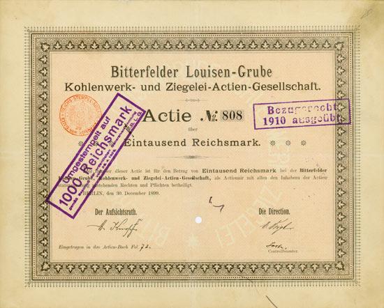 Bitterfelder Louisen-Grube Kohlenwerk- und Ziegelei-AG