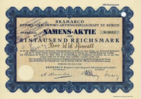 BRAMARCO Export- und Import-AG