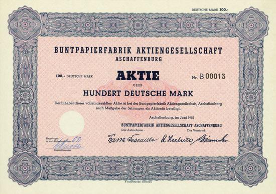 Buntpapierfabrik AG Aschaffenburg
