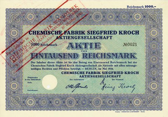 Chemische Fabrik Siegfried Kroch AG