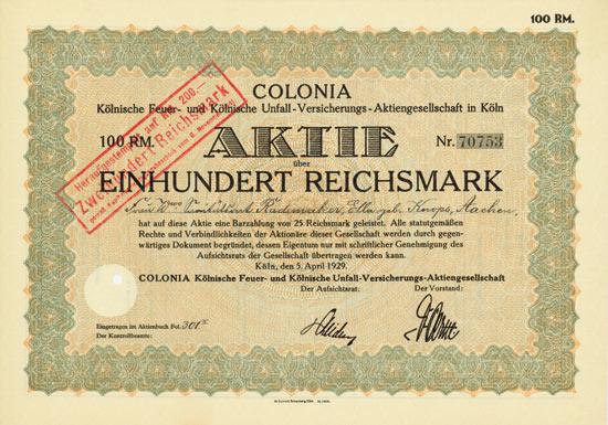 COLONIA Kölnische Feuer- und Kölnische Unfall-Versicherungs-AG