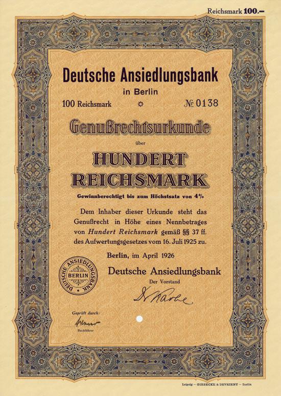 Deutsche Ansiedlungsbank
