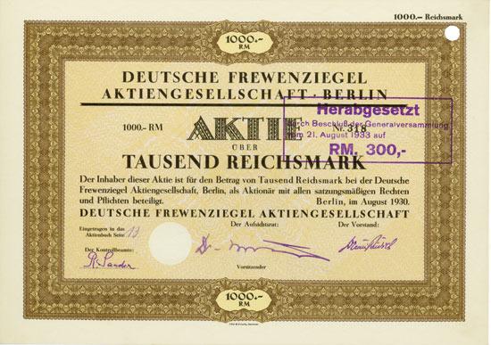 Deutsche Frewenziegel AG