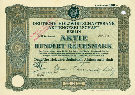 Deutsche Holzwirtschaftsbank AG